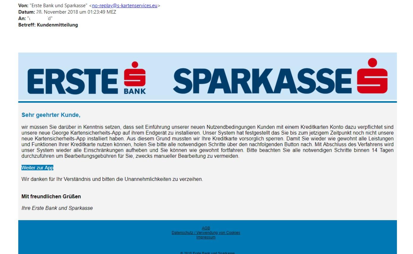 Muster Mails Erste Bank Und Sparkasse